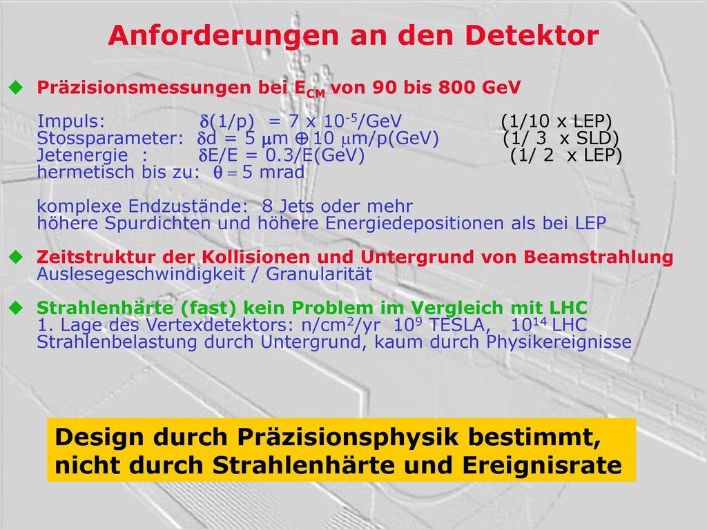 Anforderungen an den Detektor