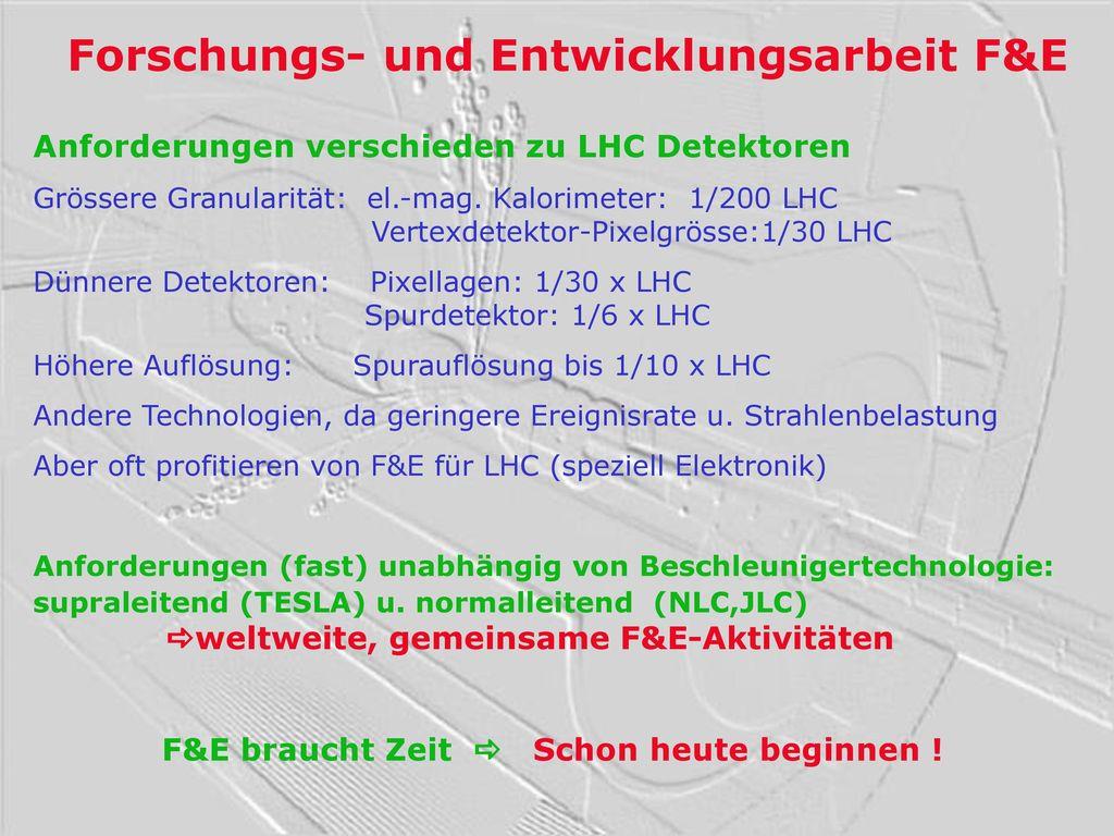 Forschungs- und Entwicklungsarbeit F&E