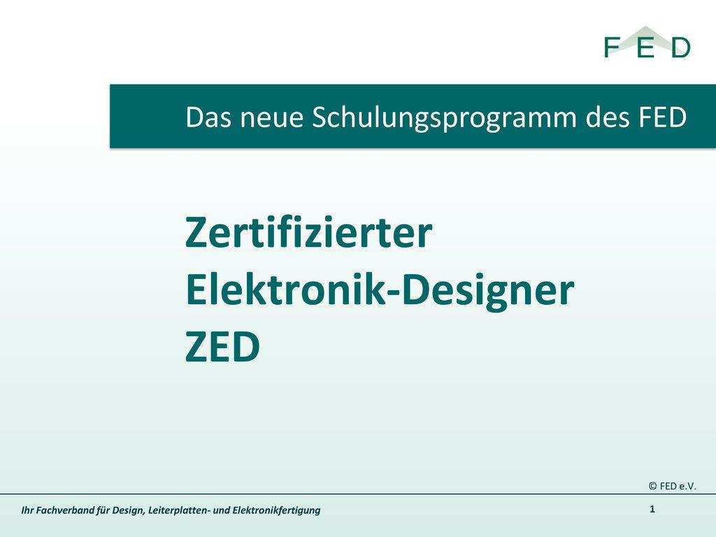 Zertifizierter Elektronik-Designer ZED