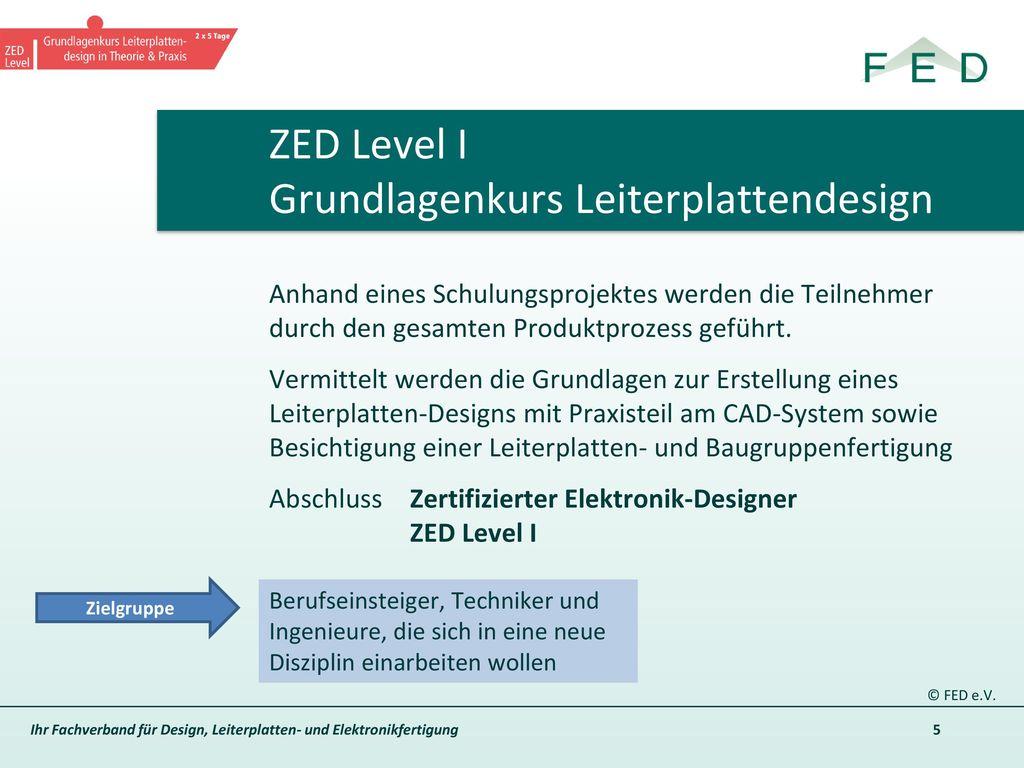 ZED Level I Grundlagenkurs Leiterplattendesign