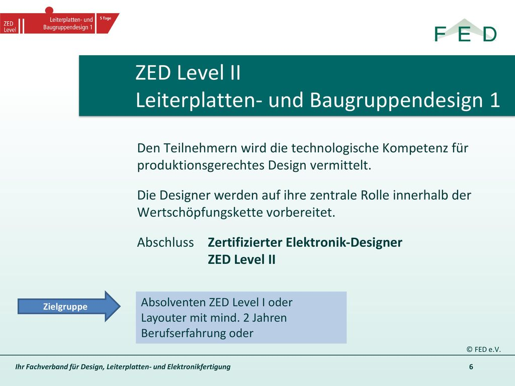 ZED Level II Leiterplatten- und Baugruppendesign 1