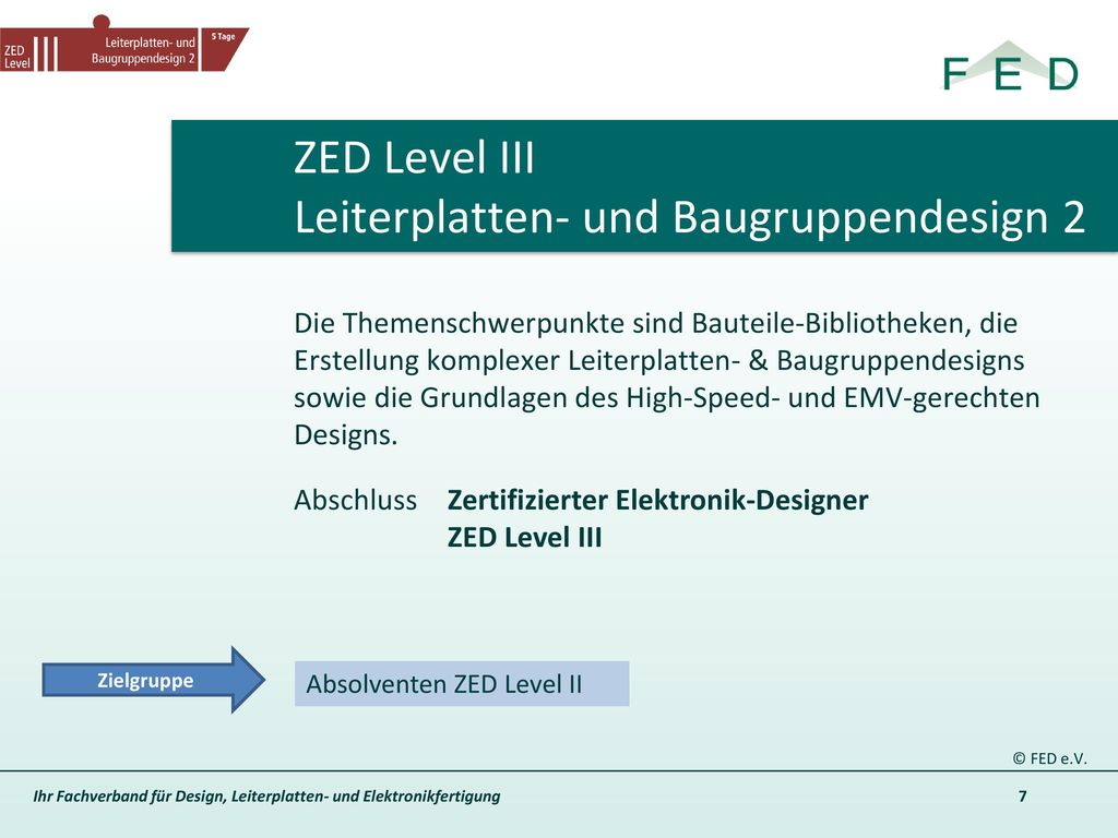 ZED Level III Leiterplatten- und Baugruppendesign 2