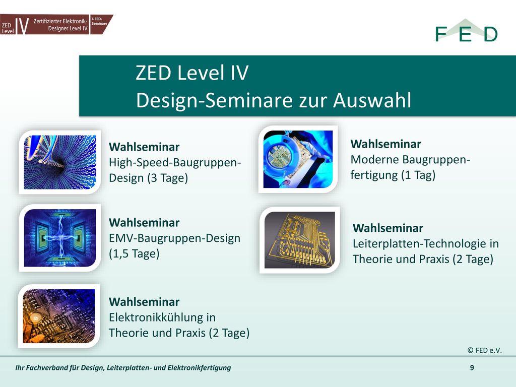 ZED Level IV Design-Seminare zur Auswahl