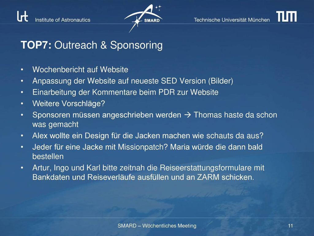 TOP7: Outreach & Sponsoring