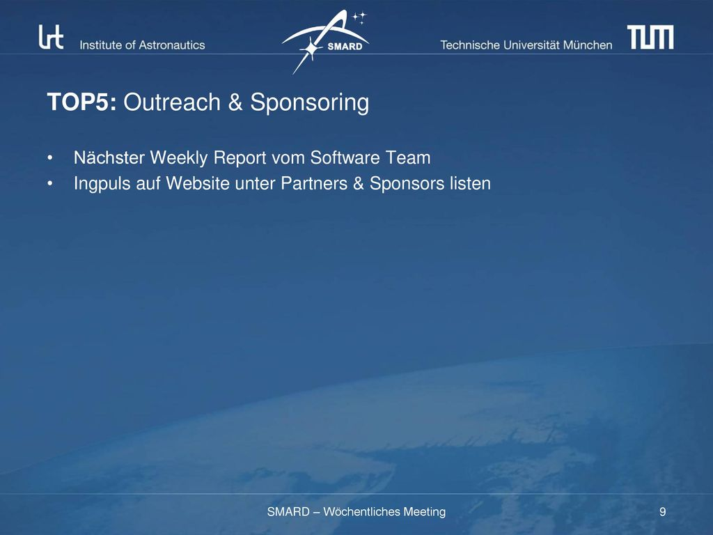 TOP5: Outreach & Sponsoring