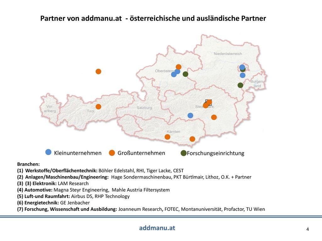 Partner von addmanu.at - österreichische und ausländische Partner
