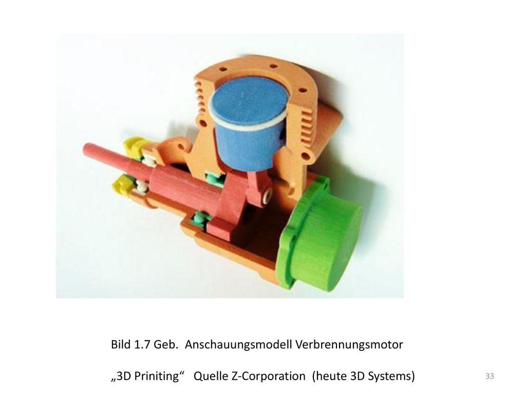 Bild 1.7 Geb. Anschauungsmodell Verbrennungsmotor