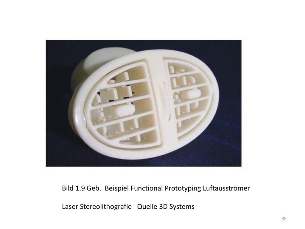 Bild 1.9 Geb. Beispiel Functional Prototyping Luftausströmer