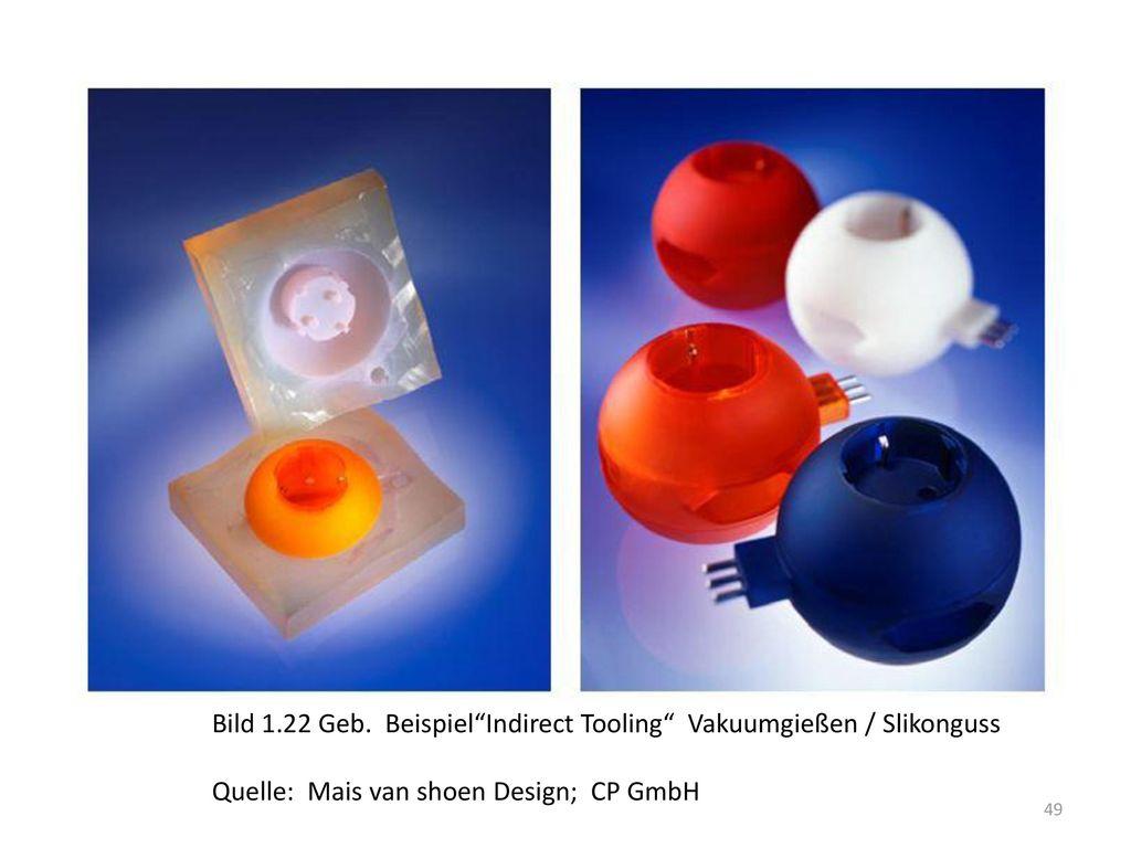 Bild 1.22 Geb. Beispiel Indirect Tooling Vakuumgießen / Slikonguss
