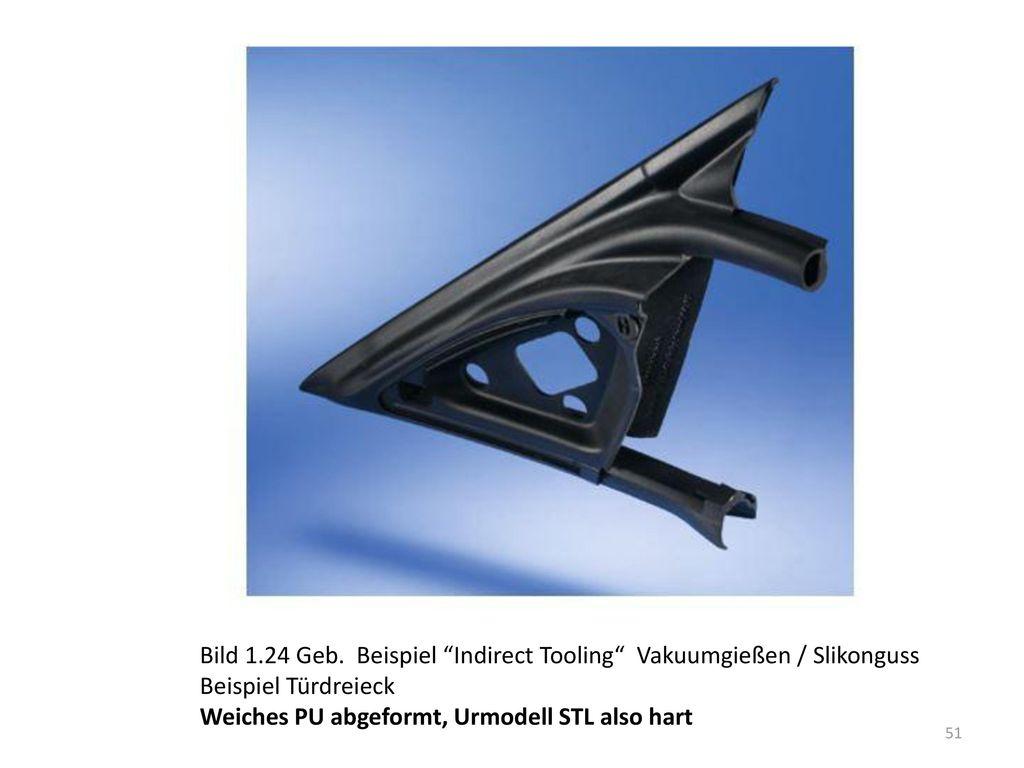 Bild 1.24 Geb. Beispiel Indirect Tooling Vakuumgießen / Slikonguss