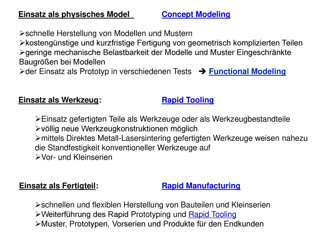 Einsatz als physisches Model Concept Modeling