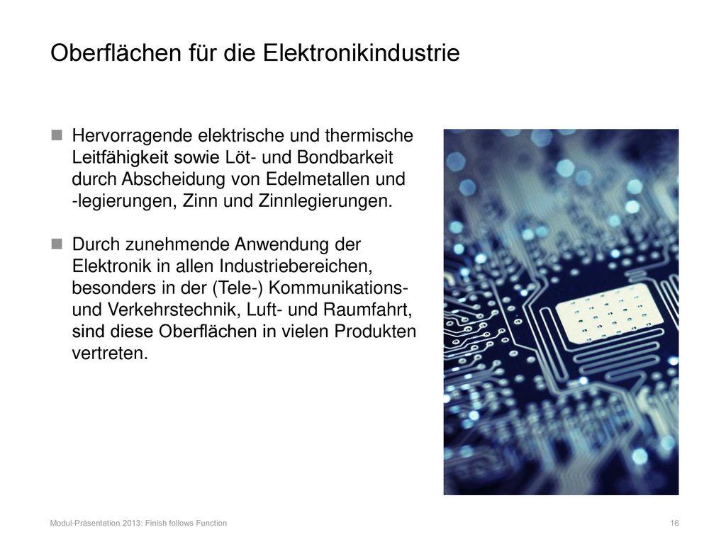 Oberflächen für die Elektronikindustrie