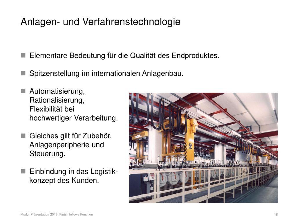 Anlagen- und Verfahrenstechnologie