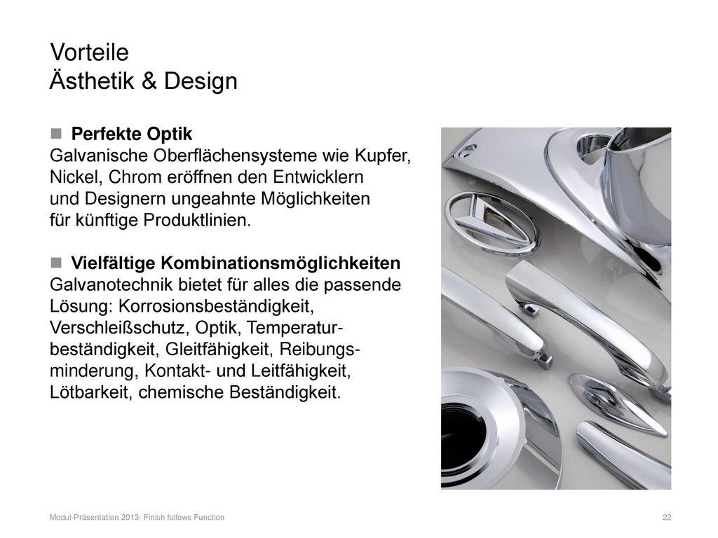 Vorteile Ästhetik & Design