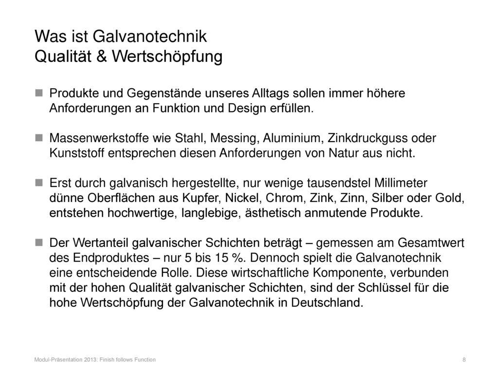 Was ist Galvanotechnik Qualität & Wertschöpfung