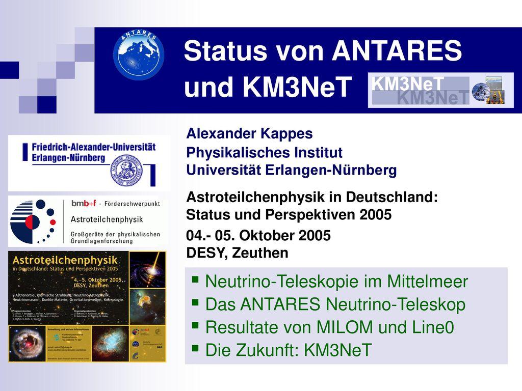Status von ANTARES und KM3NeT