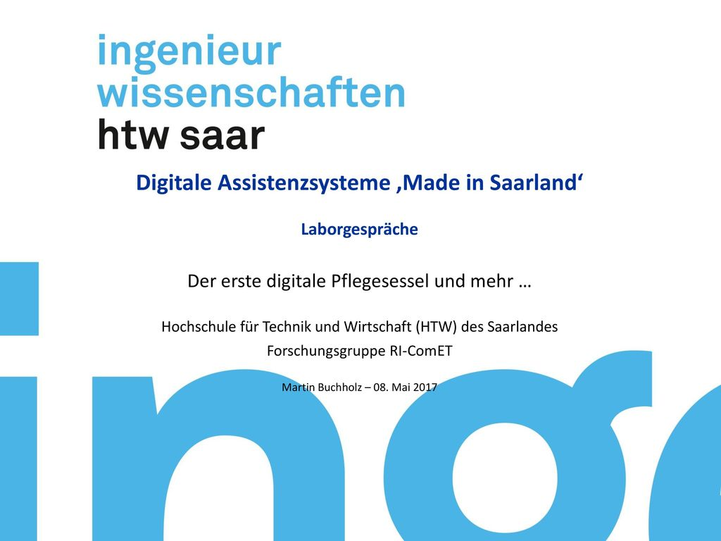 Digitale Assistenzsysteme 'Made in Saarland'
