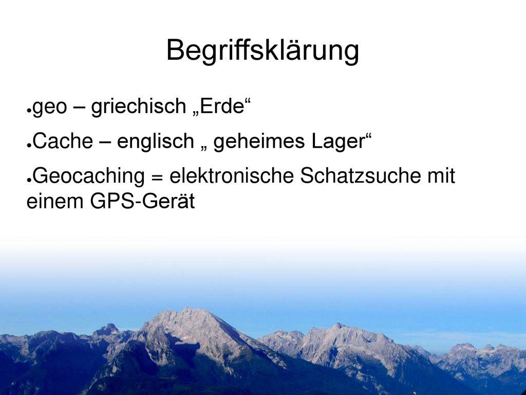 """Begriffsklärung geo – griechisch """"Erde"""