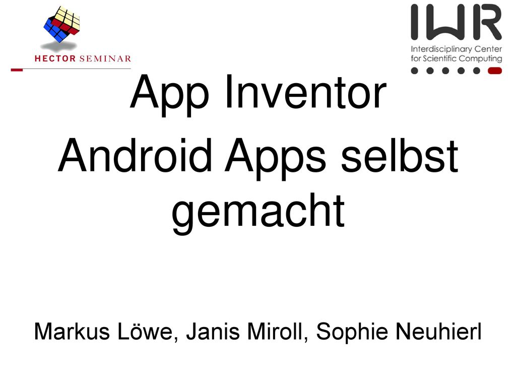 Android Apps selbst gemacht