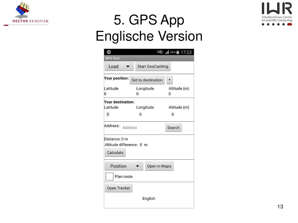 5. GPS App Englische Version