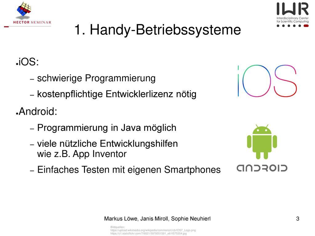 1. Handy-Betriebssysteme
