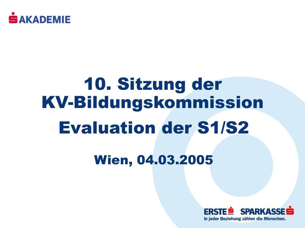 10. Sitzung der KV-Bildungskommission