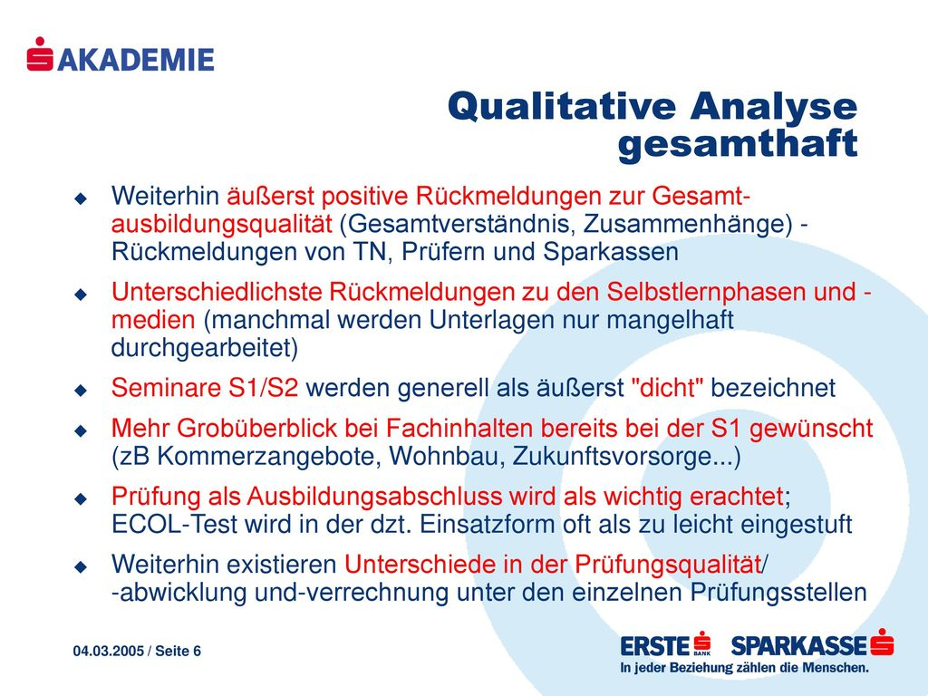 Qualitative Analyse gesamthaft