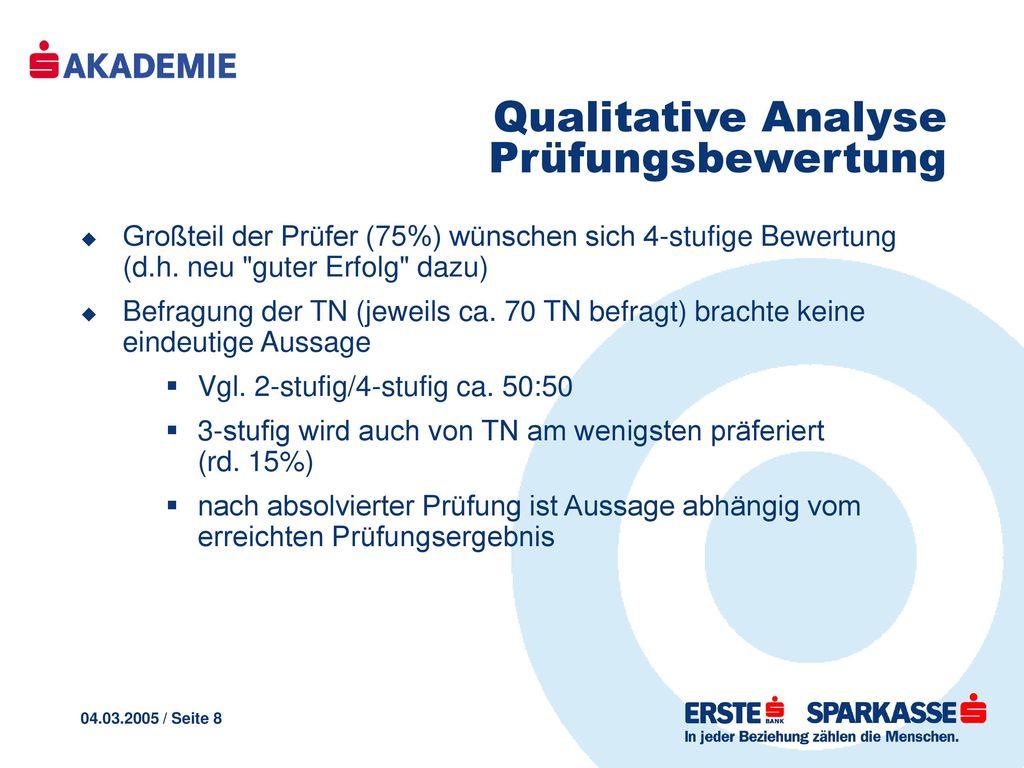 Qualitative Analyse Prüfungsbewertung