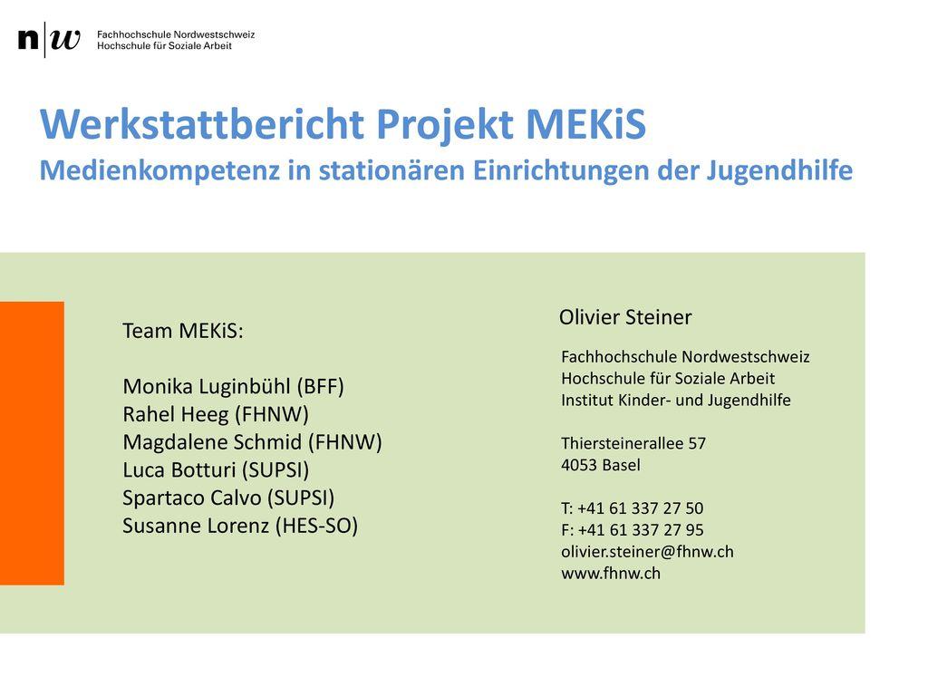 Werkstattbericht Projekt MEKiS