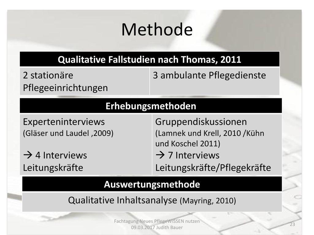 Qualitative Fallstudien nach Thomas, 2011