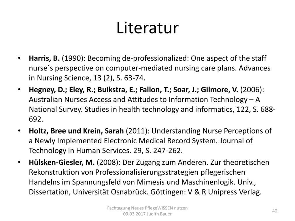 Fachtagung Neues PflegeWISSEN nutzen 09.03.2017 Judith Bauer