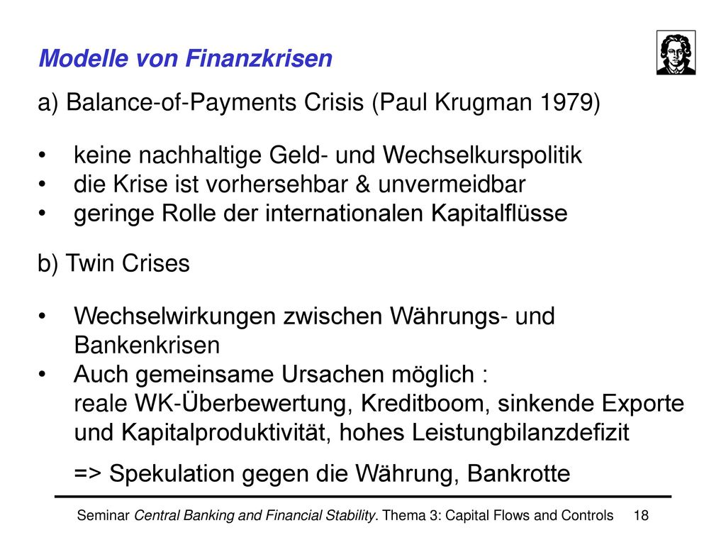 Nachteile aus den internationalen Capital Flows
