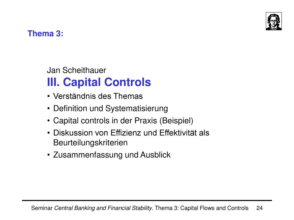 Seminar Central Banking and Financial Stability