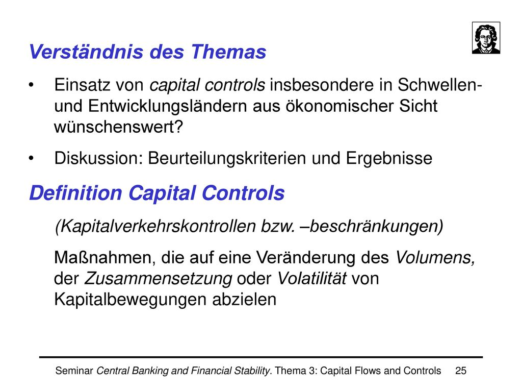 Jan Scheithauer III. Capital Controls