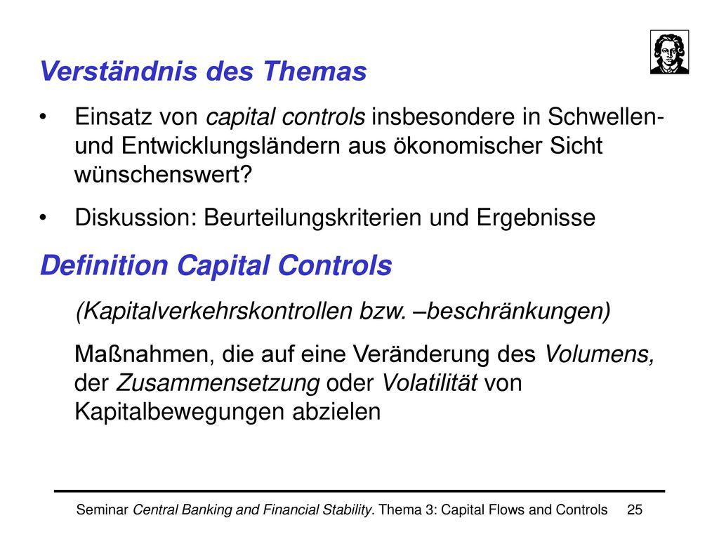 Jan Scheithauer III. Capital Controls
