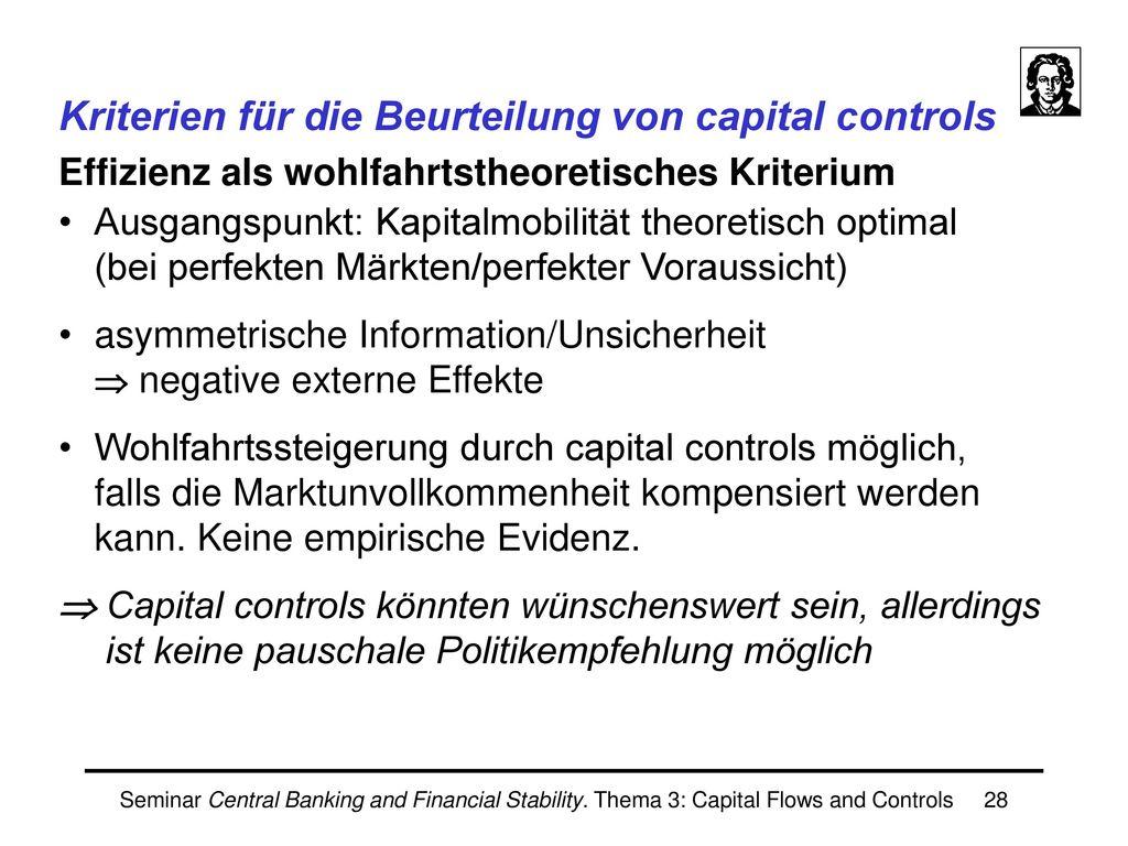 Capital controls in der Praxis