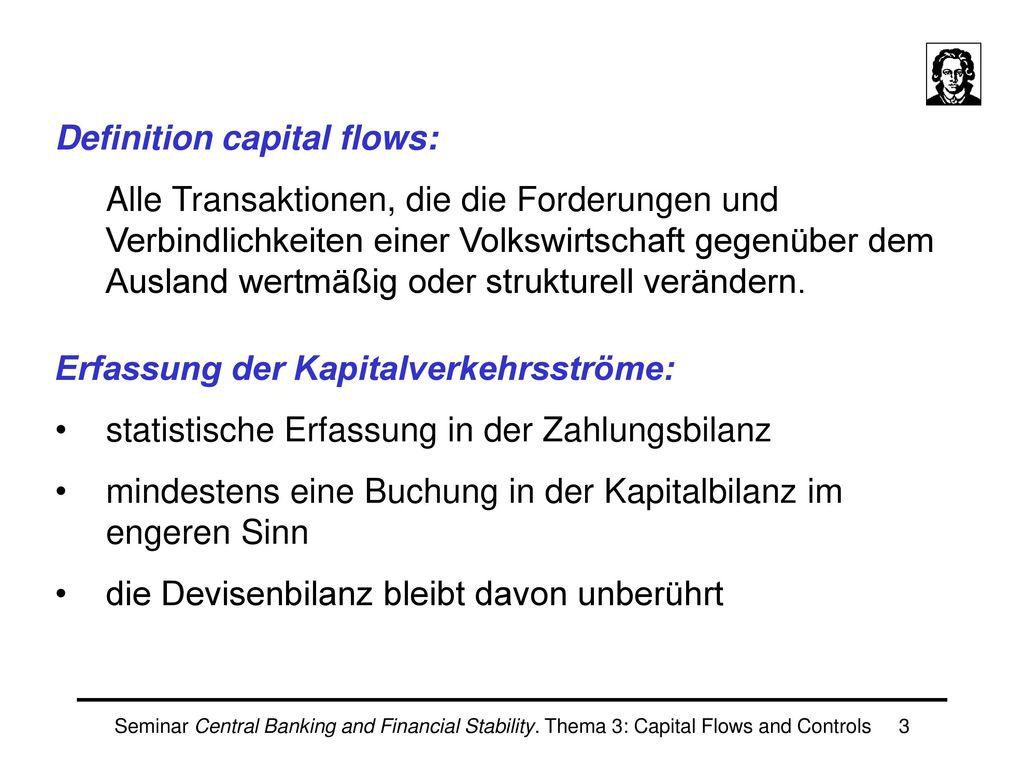 Definition capital flows: