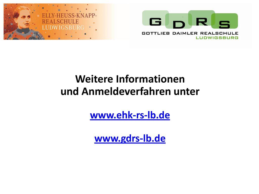 Weitere Informationen und Anmeldeverfahren unter