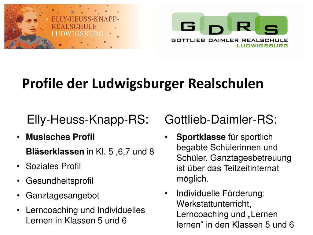 Profile der Ludwigsburger Realschulen