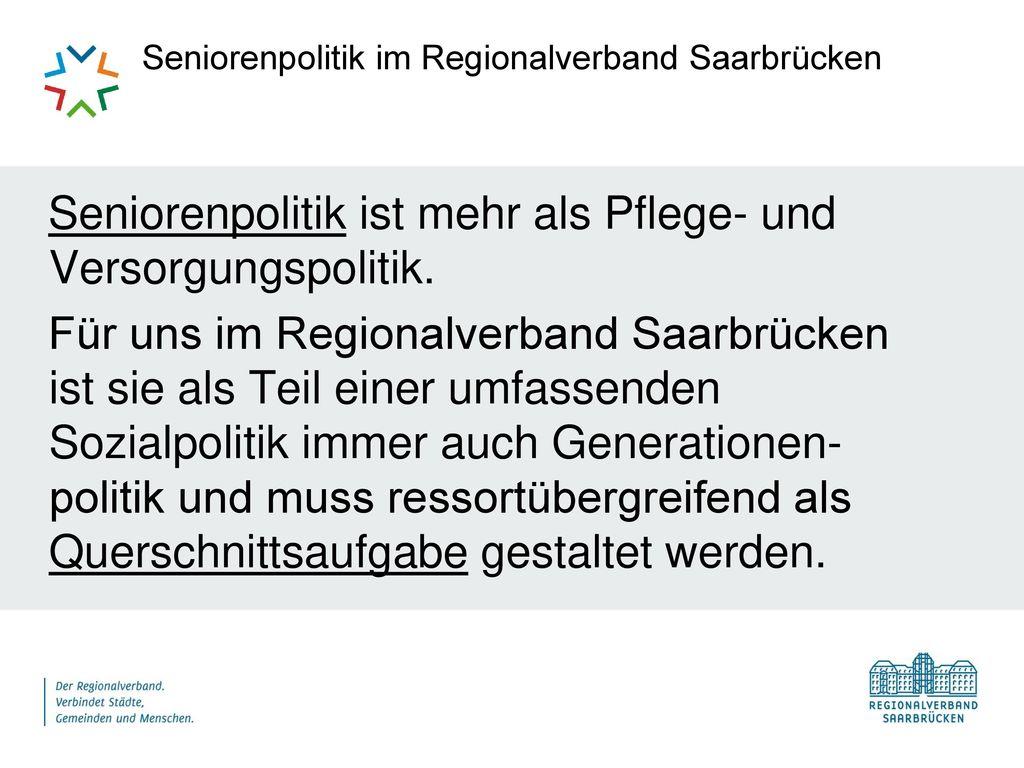 Seniorenpolitik im Regionalverband Saarbrücken