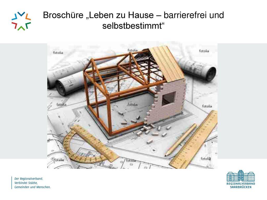 """Broschüre """"Leben zu Hause – barrierefrei und selbstbestimmt"""