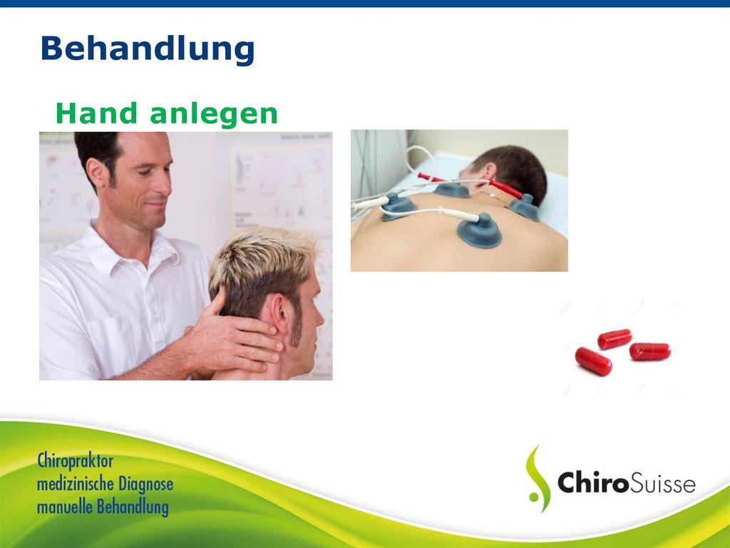 Behandlung Hand anlegen