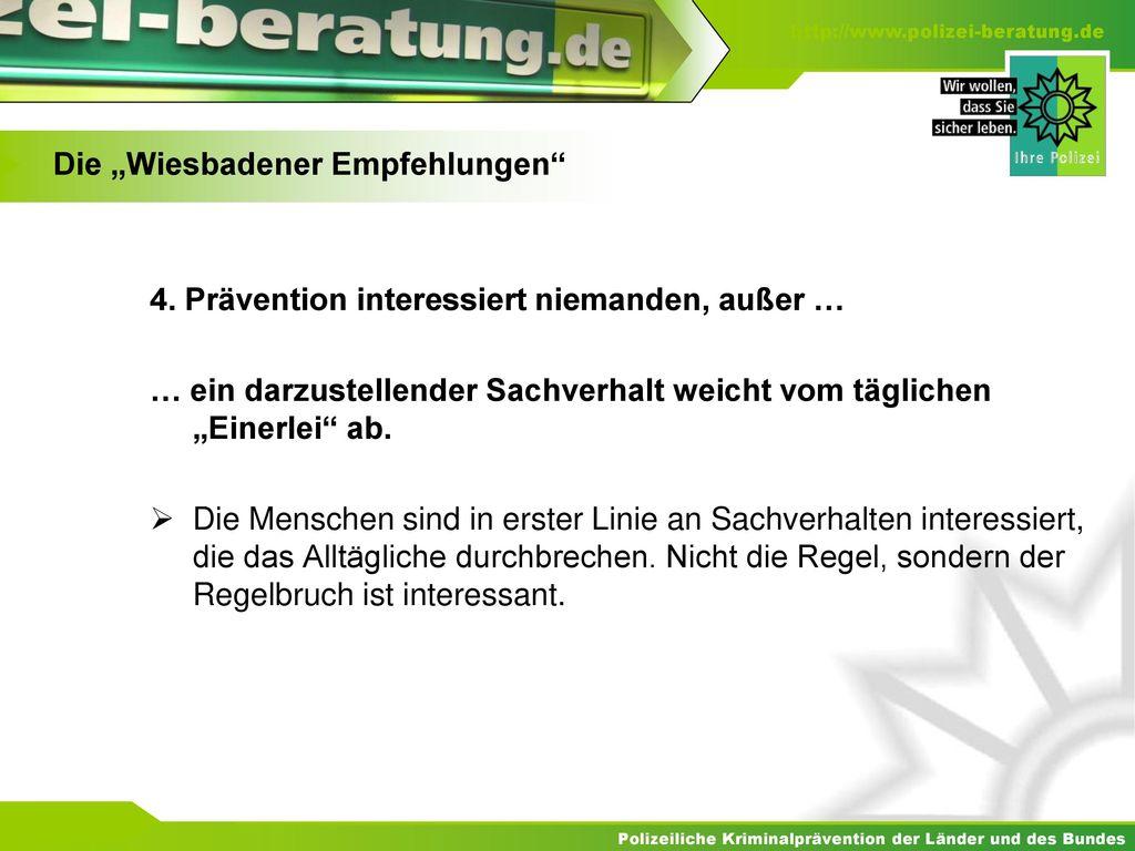 """Die """"Wiesbadener Empfehlungen"""