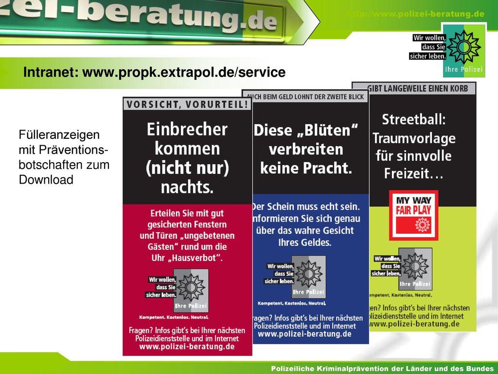 Intranet: www.propk.extrapol.de/service