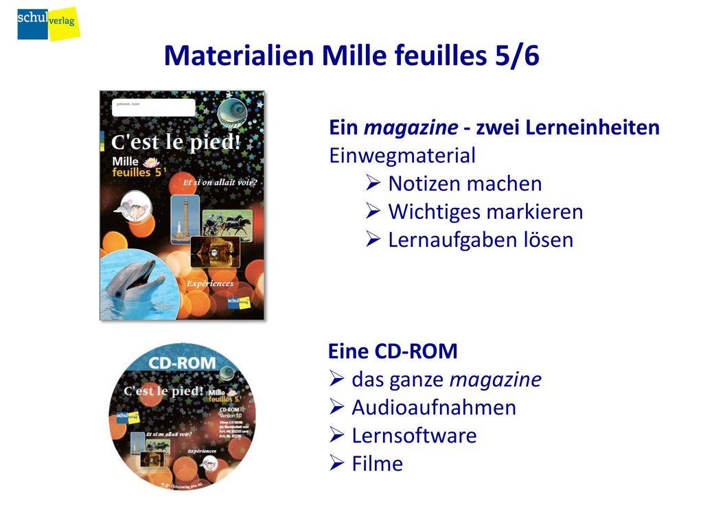 Materialien Mille feuilles 5/6