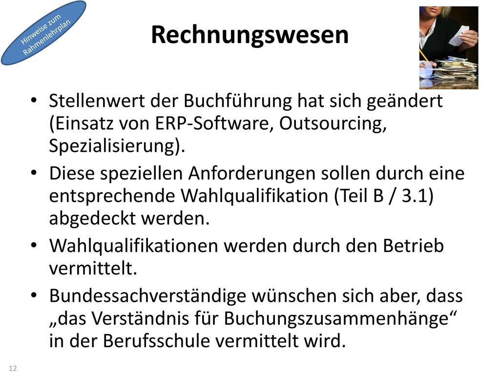 Rechnungswesen Hinweise zum. Rahmenlehrplan.