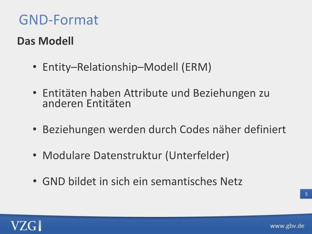 GND-Grundstruktur – Entitäten