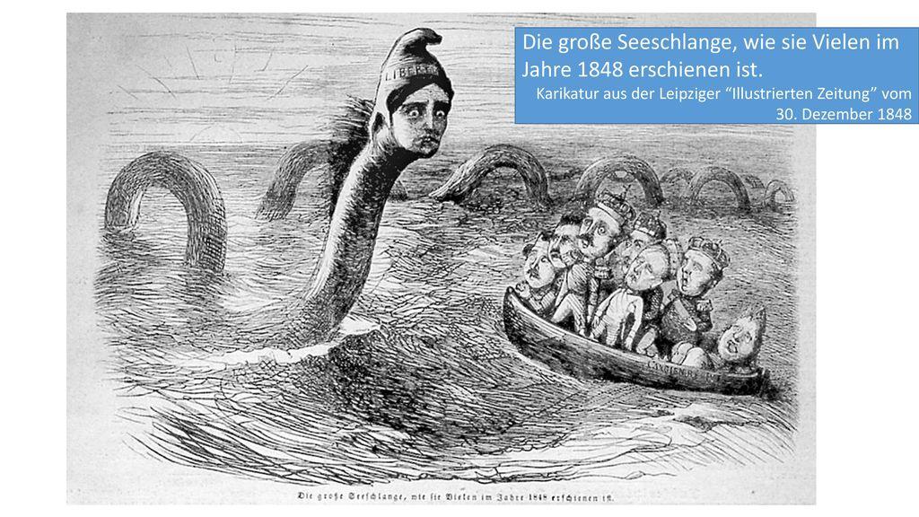 Die große Seeschlange, wie sie Vielen im Jahre 1848 erschienen ist.