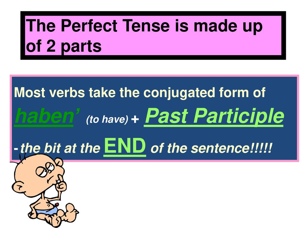 The Perfect Tense is made up of 2 parts