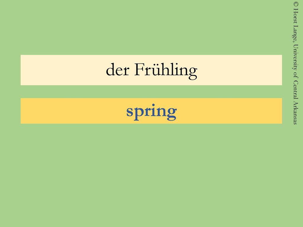 der Frühling spring